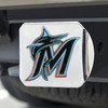 Miami Marlins Hitch Cover - Team Color on Chrome