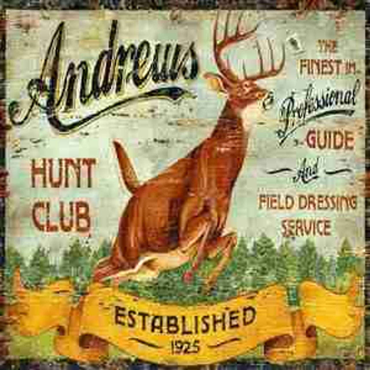 Hunting Metal Signs