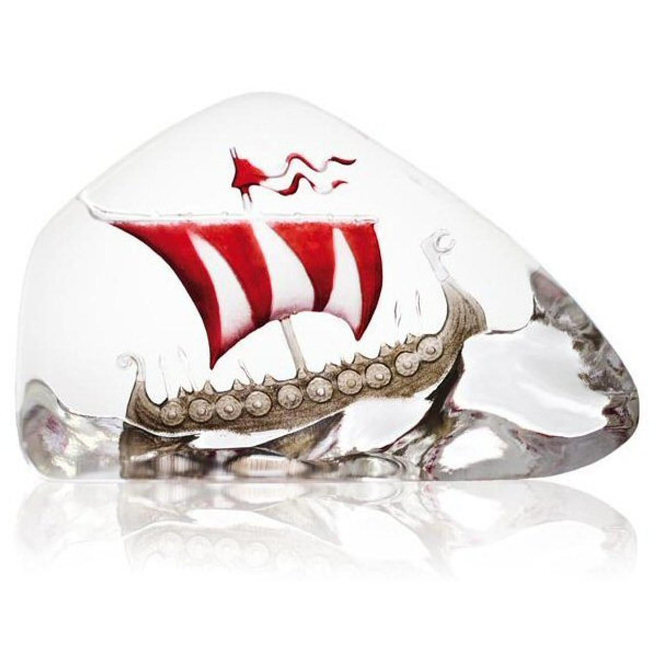 Mats Jonasson Crystal Ships Sculptures