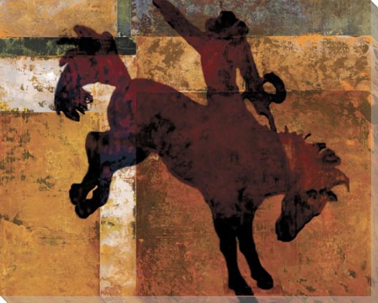 Savannah Rodeo Cowboy Wrapped Canvas Giclee Print Wall Art Wall Decor Artwork
