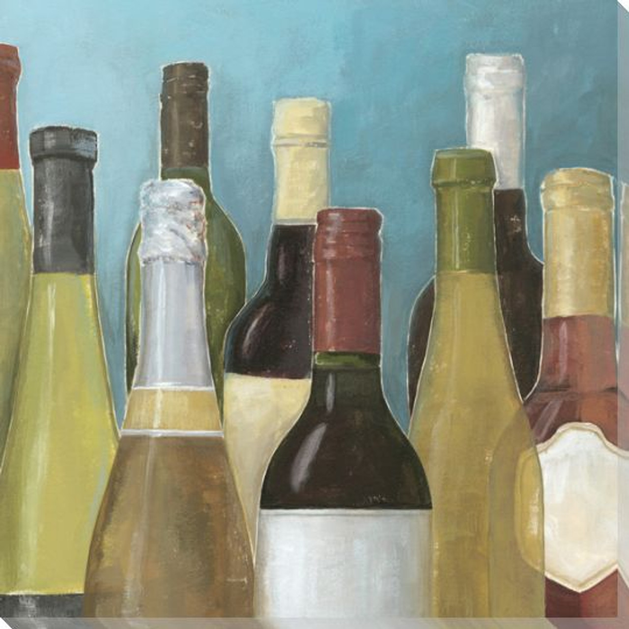 Assorted Wine Bottles Ii Wrapped Canvas Giclee Print Wall Art Wall Decor Artwork