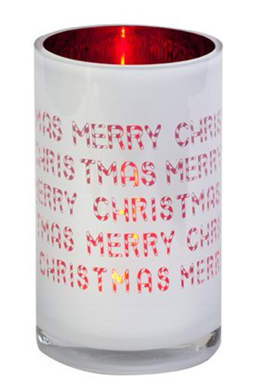 Merry Christmas Glass Hurricane Candle Holder Candle Accessories
