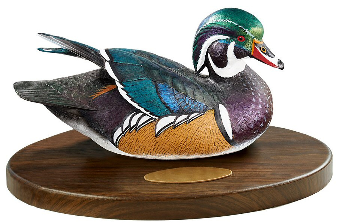 Personalized Wood Duck Quarter Life Size Hand Painted Duck Decoy Award Sculpture By Sam Nottleman Wild Wings