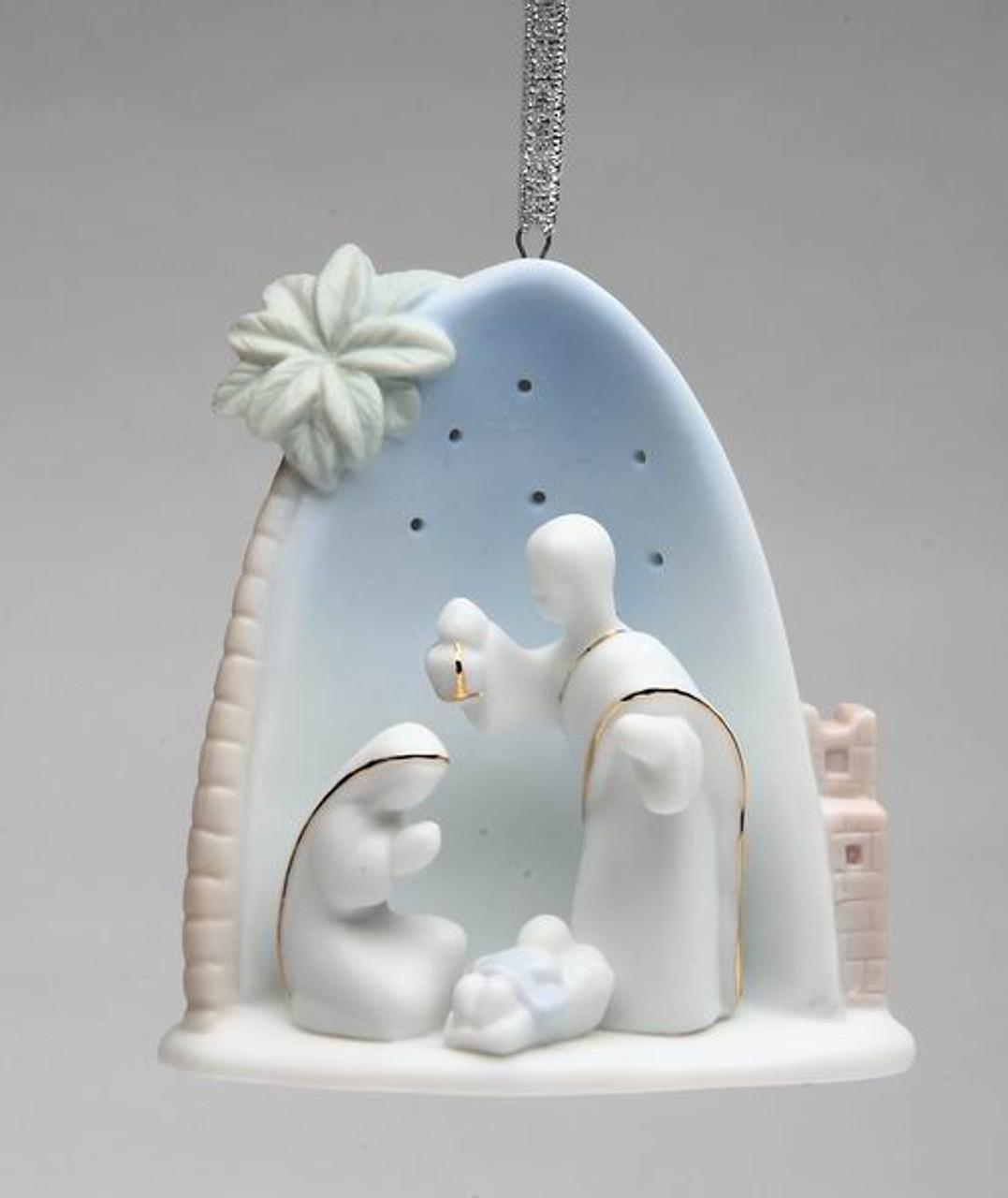Holy Family with Palm Tree Christmas Tree Ornaments, Set ...