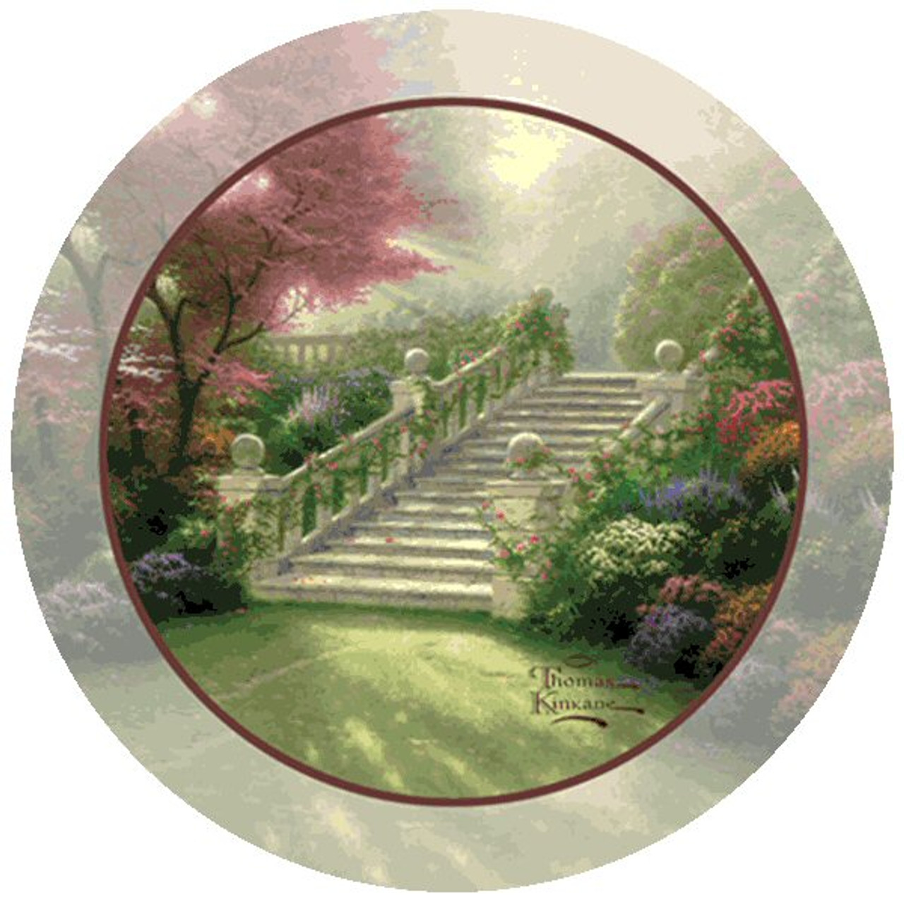 Stairway To Paradise Beverage Coasters By Thomas Kinkade Set Of 8 Drink Coasters Thirstystone