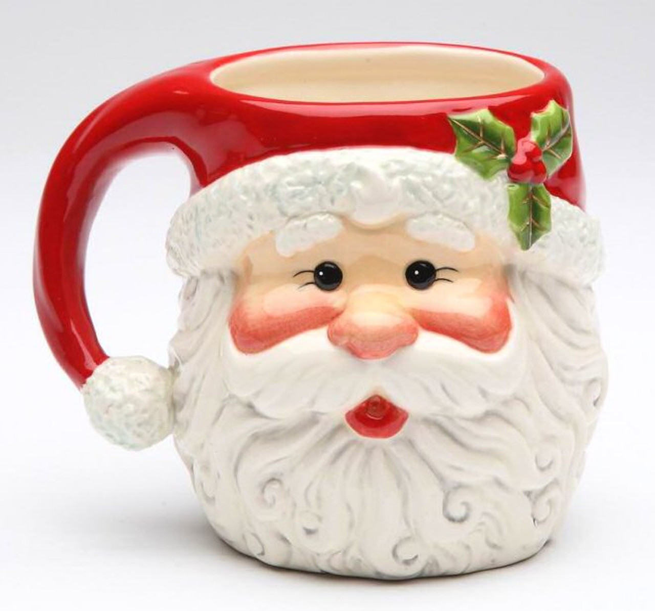 Christmas Santa Mugs By Laurie Furnell Set Of 4 Drinkware Tableware Cosmos
