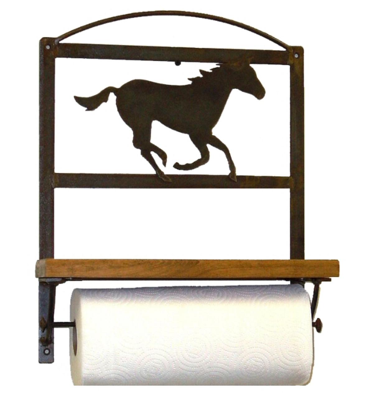 Choice Southwest Metal Paper Towel Rack With Shelf 66 Designs