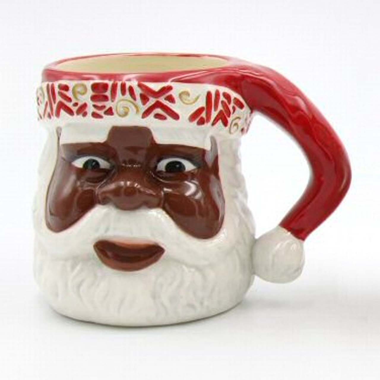 First Light African American Santa Mugs Set Of 2 Drinkware Tableware Cosmos