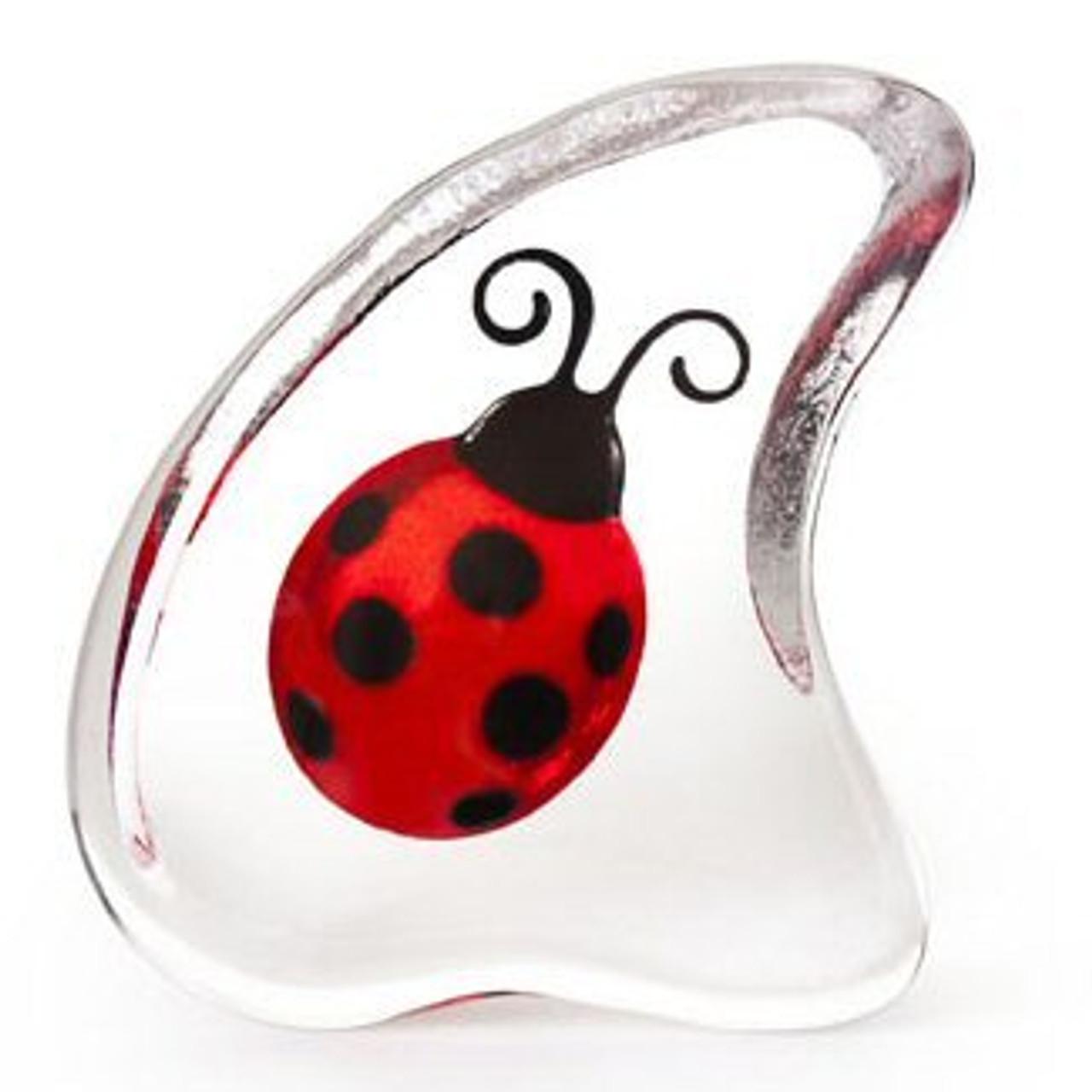 Mats Jonasson Crystal Ladybugs Sculptures