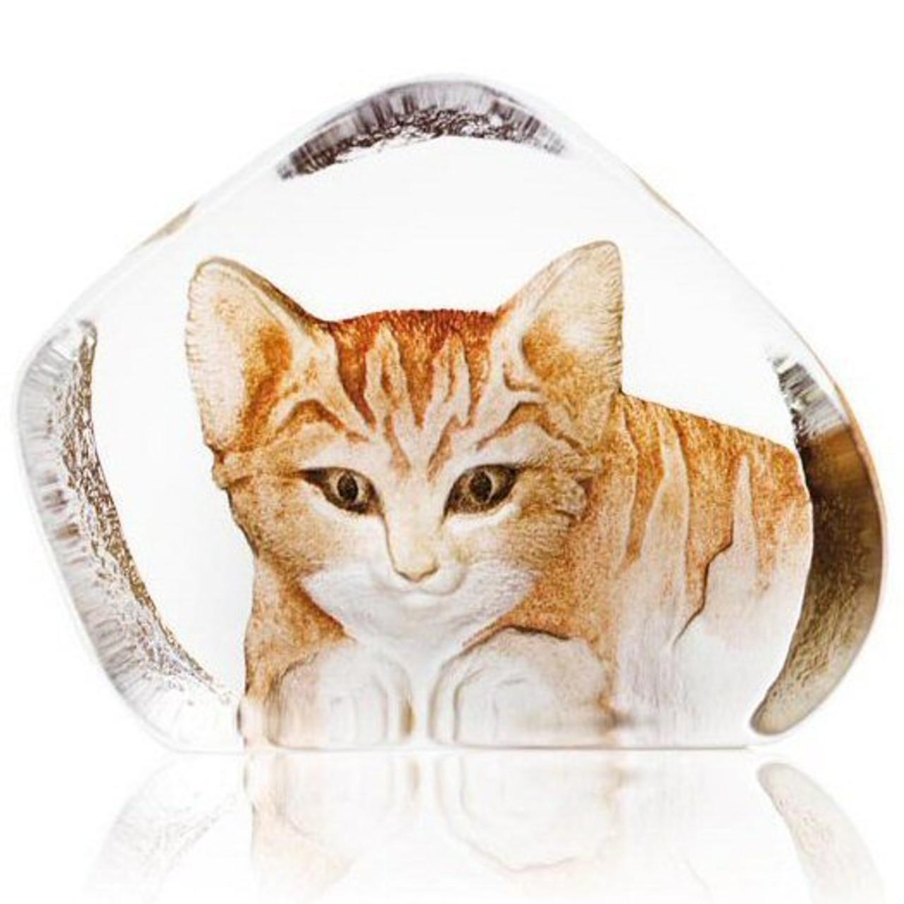 Mats Jonasson Crystal Cats Sculptures