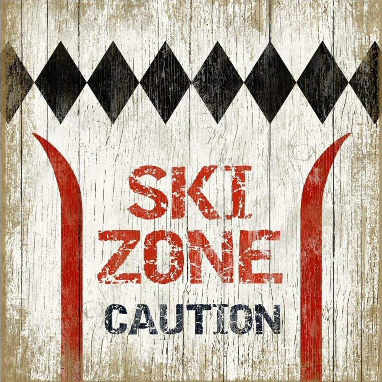 Skiing Metal Signs
