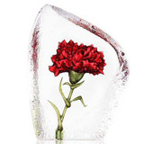 Mats Jonasson Crystal Flowers Sculptures
