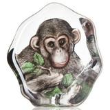 Mats Jonasson Crystal Primate Sculptures