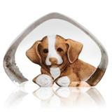 Mats Jonasson Crystal Dogs Sculptures