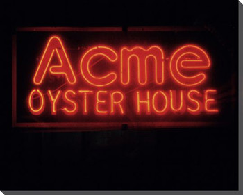Acme Oyster House Neon Sign Wrapped Canvas Giclee Print Wall Art