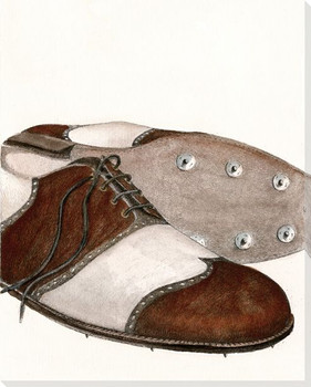 Golf Shoes Wrapped Canvas Giclee Print Wall Art