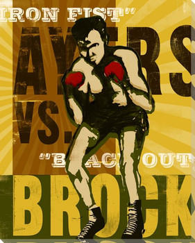 Brock Corner Boxing Wrapped Canvas Giclee Print Wall Art
