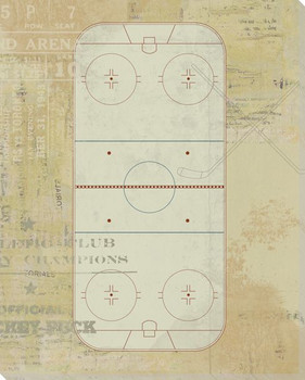 Hockey Rink Diagram Wrapped Canvas Giclee Print Wall Art