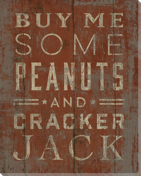 """Buy Me Some Peanuts"" Wrapped Canvas Giclee Print Wall Art"