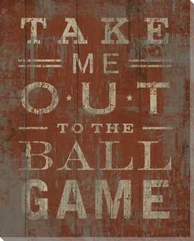 """Take Me Out to the Ball Game"" Wrapped Canvas Giclee Print"