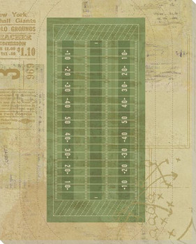 Football Field Diagram Wrapped Canvas Giclee Print Wall Art