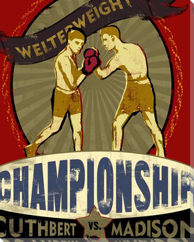 Championship Corner Boxing Wrapped Canvas Giclee Print Wall Art