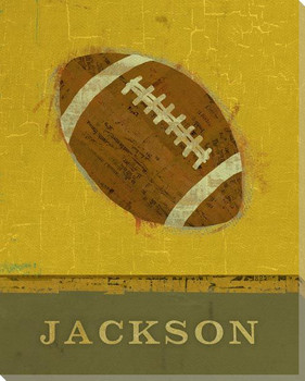 Personalized Football Wrapped Canvas Giclee Print Wall Art