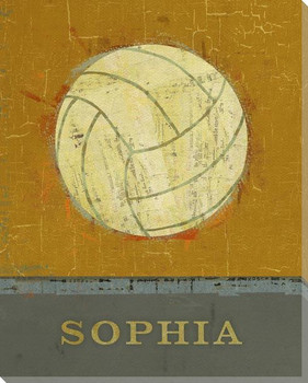 Personalized Volleyball Wrapped Canvas Giclee Print Wall Art