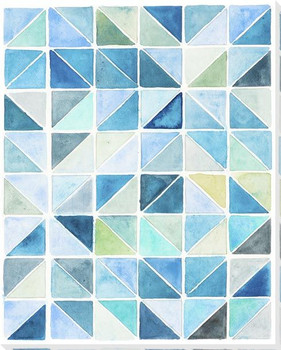 Coastal Mosaic Wrapped Canvas Giclee Art Print Wall Art