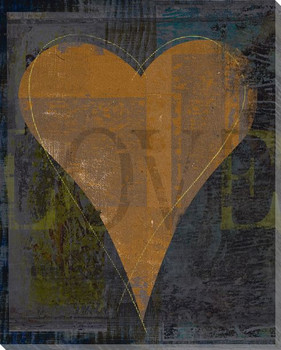 Love Heart Wrapped Canvas Giclee Print Wall Art