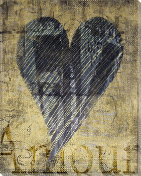 Amour Heart Wrapped Canvas Giclee Print Wall Art