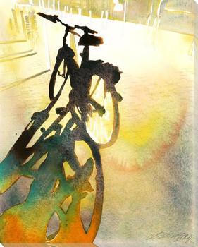 Bike Wrapped Canvas Giclee Print Wall Art