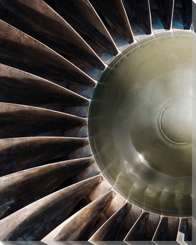 Turbine IV Wrapped Canvas Giclee Print Wall Art