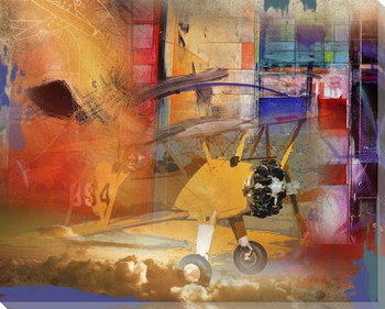 Voyage Airplane Wrapped Canvas Giclee Print Wall Art