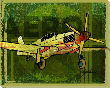 Need Aero Airplane Wrapped Canvas Giclee Print Wall Art