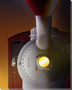 Twilight Star Train Wrapped Canvas Giclee Print Wall Art