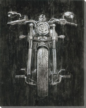 Steel Horse I Motorcycle Wrapped Canvas Giclee Print Wall Art