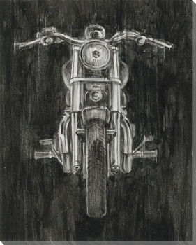 Steel Horse II Motorcycle Wrapped Canvas Giclee Print Wall Art