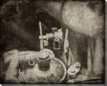 Vintage Roadster Detail Carburetor Wrapped Canvas Giclee Print