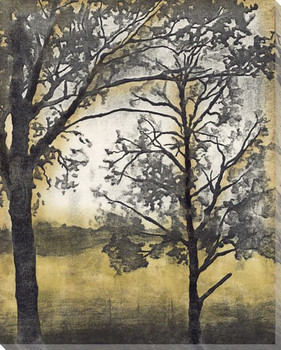 Tandem Trees I Wrapped Canvas Giclee Print Wall Art