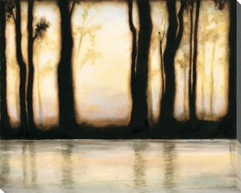 Misty Forest III Wrapped Canvas Giclee Print Wall Art