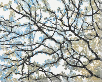 Budding Branches Wrapped Canvas Giclee Print Wall Art