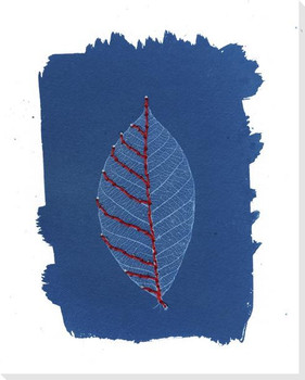 One Red Leaf Wrapped Canvas Giclee Art Print Wall Art