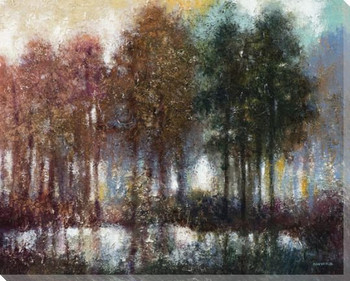 All Seasons Trees Wrapped Canvas Giclee Print Wall Art