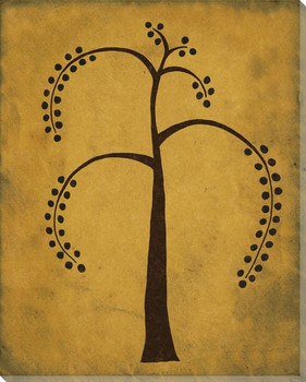 Tropical Nut Tree Wrapped Canvas Giclee Print Wall Art