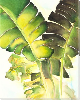 Banana Palm 4 Wrapped Canvas Giclee Art Print Wall Art