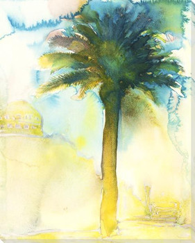 Tall Palm Tree Wrapped Canvas Giclee Art Print Wall Art