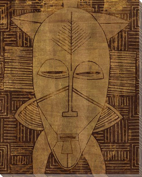 Tribal Mask 1 Wrapped Canvas Giclee Print Wall Art