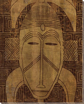 Tribal Mask 2 Wrapped Canvas Giclee Print Wall Art