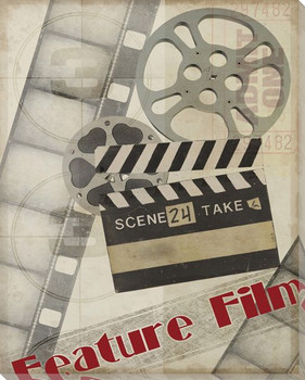 """Feature Film"" Wrapped Canvas Giclee Print Wall Art"